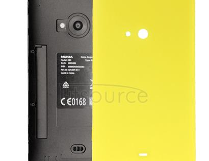 Original Housing Battery Back Cover with Side Button for Nokia Lumia 625 (Yellow)