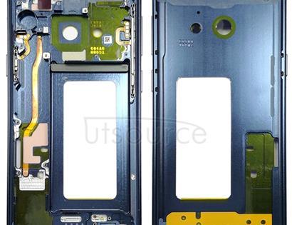 Middle Frame Bezel for Galaxy S9 G960F, G960F/DS, G960U, G960W, G9600 (Blue)