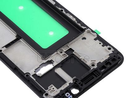 Galaxy C8 Front Housing LCD Frame Bezel Plate(Black)