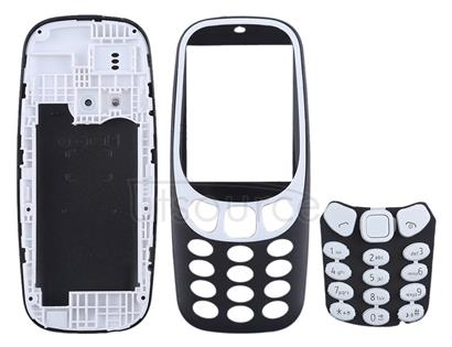 Full Assembly Housing Cover with Keyboard for Nokia 3310(Black)