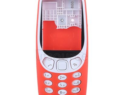 Full Assembly Housing Cover with Keyboard for Nokia 3310(Red)