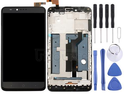 For ZTE ZMax Pro / Z981 LCD Screen and Digitizer Full Assembly with Frame(Black)