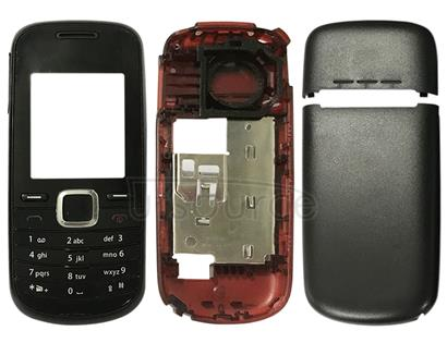 Full Housing Cover (Front Cover + Middle Frame Bezel + Battery Back Cover + Keyboard) for Nokia 1661