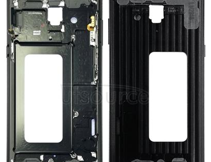 Front Housing LCD Frame Bezel Plate for Galaxy A8+ (2018), A730F, A730F/DS(Black)