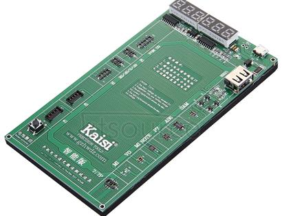 Kaisi K-9208 6 in 1 Professional Battery Activation Charge Board with Micro USB Cable for iPhone, Samsung, Huawei, Xiaomi, HTC, iOS & Android Smartphones