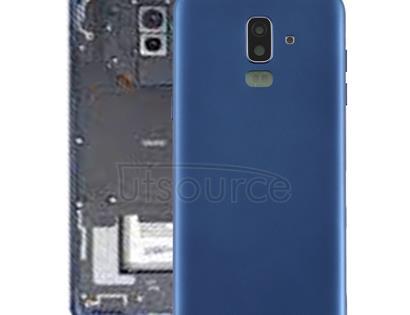 Back Cover with Side Keys & Camera Lens for Galaxy J8 (2018), J810F/DS, J810Y/DS, J810G/DS(Blue)