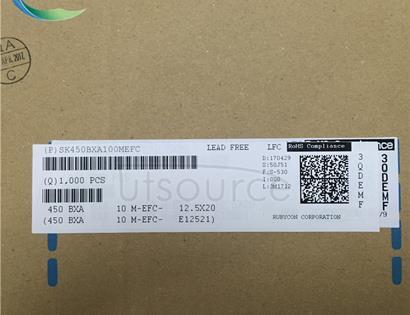 RUBYCON 450V10UF 12.5X20MM DIP Capacitors 450BXA10MEFC12.5X20