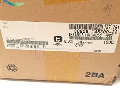 NIPPON CHEML-CON EKXJ251ELL820MK25S DIP Capacitors 250V82UF KXJ 12.5X25