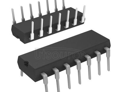 74HCT132N,652 Quad 2-input NAND Schmitt trigger - Description: Quad 2-Input NAND Schmitt-Trigger<br/> TTL Enabled <br/> Logic switching levels: TTL <br/> Number of pins: 14 <br/> Output drive capability: +/- 4 mA <br/> Power dissipation considerations: Low Power <br/> Propagation delay: 17 ns<br/> Voltage: 4.5-5.5V<br/> Package: SOT27-1 DIP14<br/> Container: Bulk Pack, CECC
