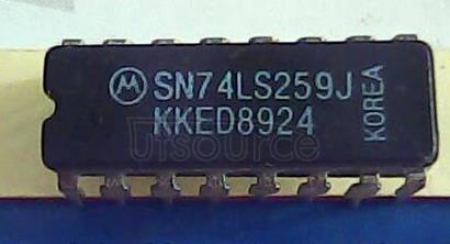 SN54LS259J Octal Bidirectional Transceiver with 3-State Inputs/Outputs<br/> Package: SOIC-20 WB<br/> No of Pins: 20<br/> Container: Tape and Reel<br/> Qty per Container: 1000