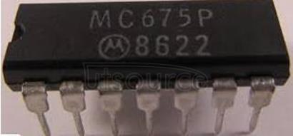 MC675P INTEGRATED CIRCUITS