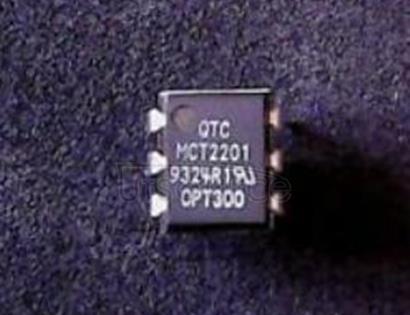 MCT2201 6 Pin, DIP, Phototransistor Detector w/ Base, CTR 100 min @ 10mA, 5V Optocoupler