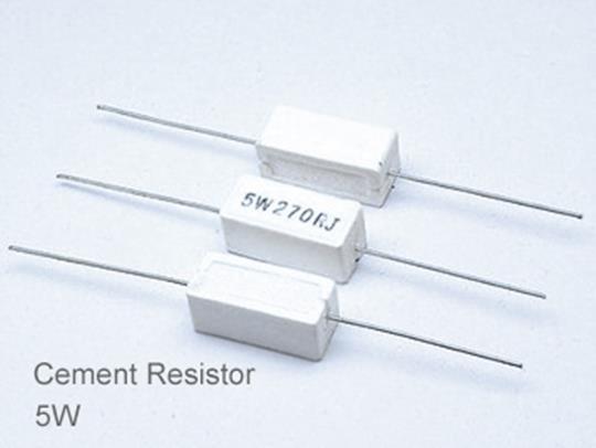 (5pcs) DIP Ceramic Resistor 5% 5W 1Ω(1R)