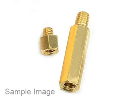 Brass Screw Bolt Single Head Hexagon M4*10 6(50PCS)