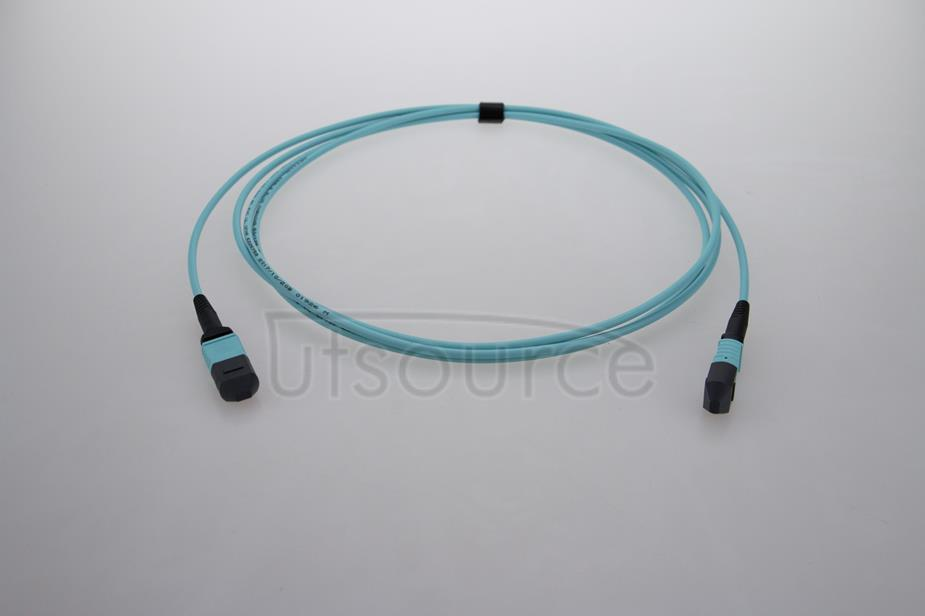 5m (16ft) MTP Male to MTP Male 24 Fibers OM3 50/125 Multimode Trunk Cable, Type A, Elite, LSZH, Aqua