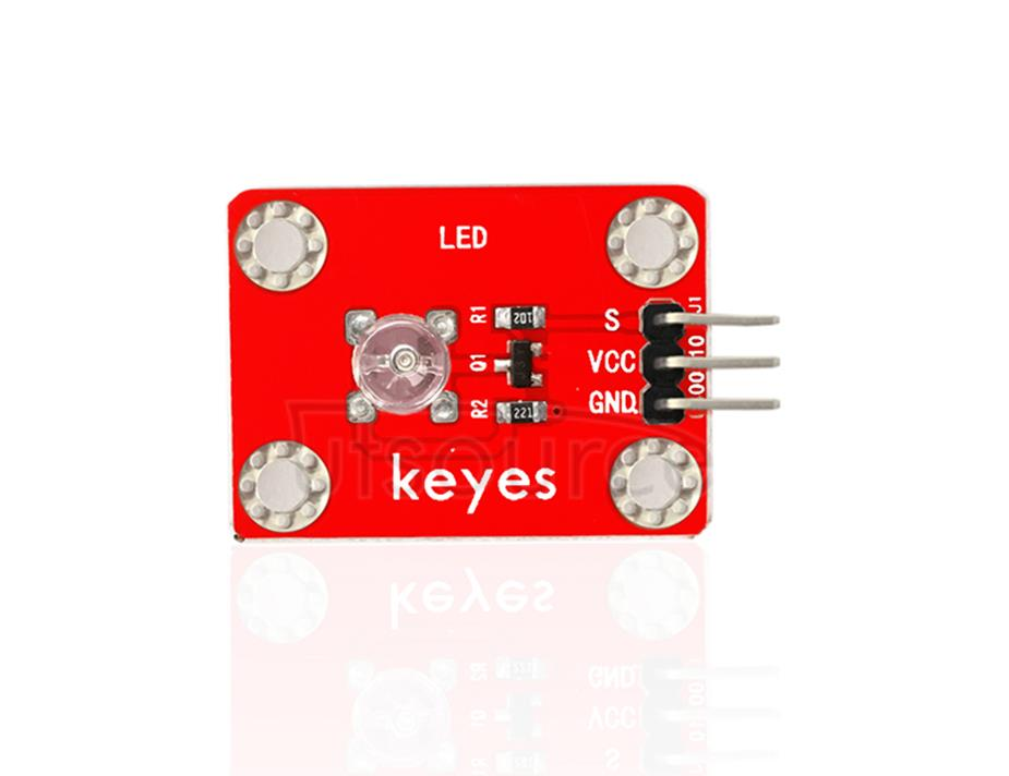 keyes DIP Straw Hat Blue LED Light Module (with soldering pad-hole)