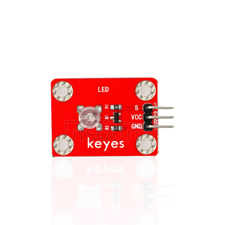 keyes DIP Straw Hat Yellow LED Light Module (with soldering pad-hole)