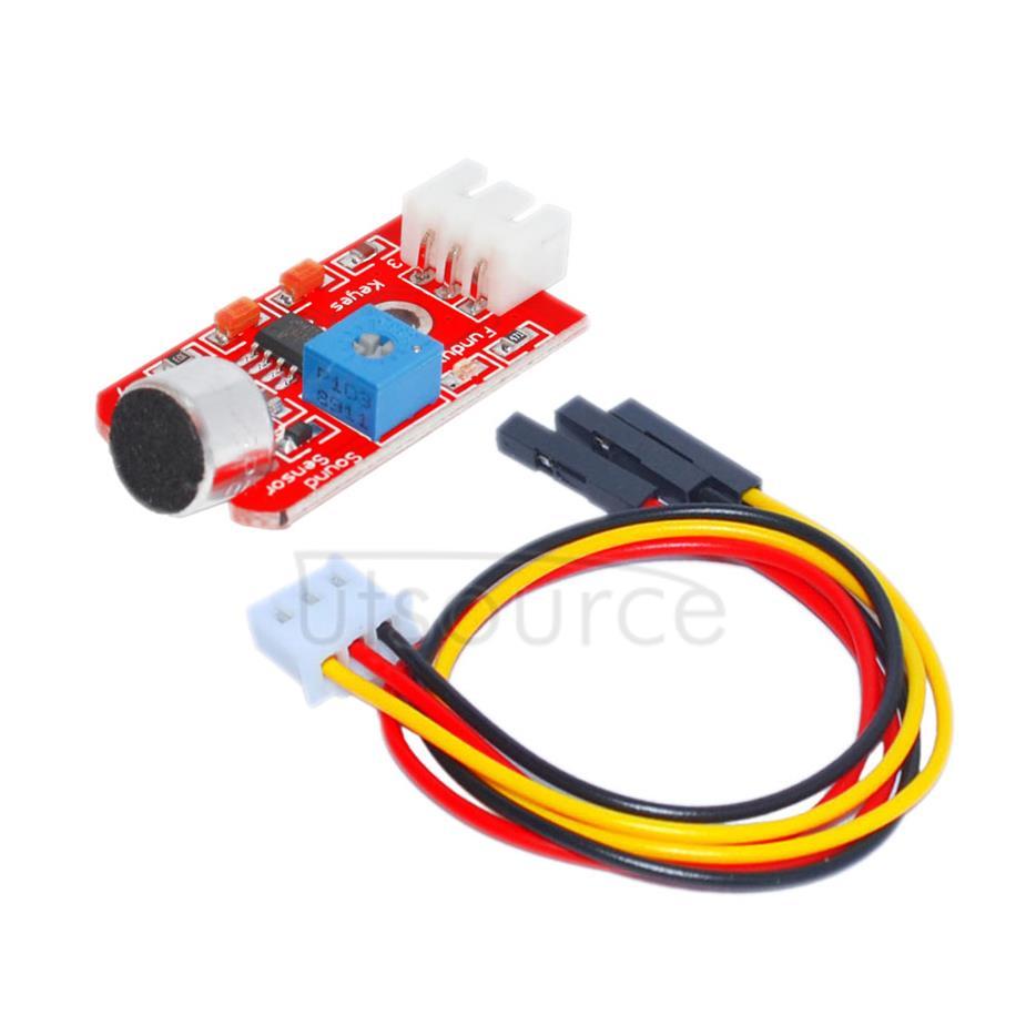 Arduino electronic bricks/ sound sensor / high sensitivity microphone / sensor module/ wire included