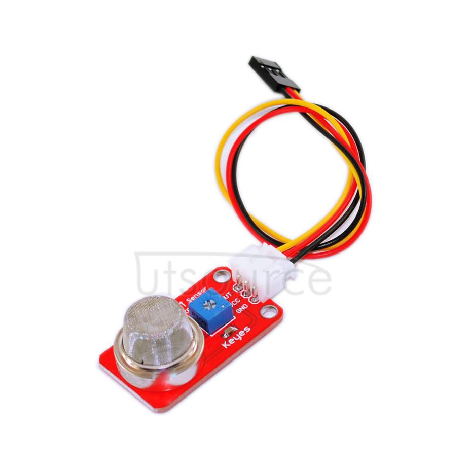 Arduino sensor, MQ-2 smoke sensor red with white terminal