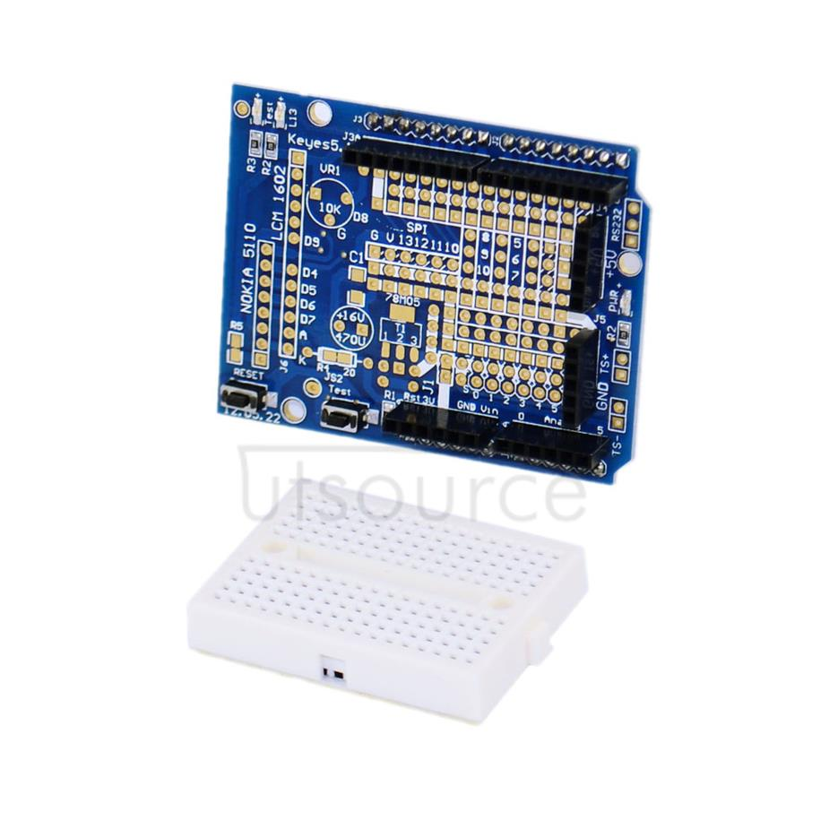 Arduino Proto Shield expansion board with MINI breadboard