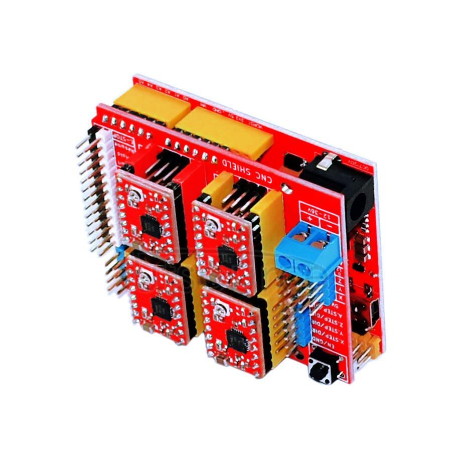 3D kit(3DV3+red board UNO+four pieces of 4988+30cm transparent blue USB line)