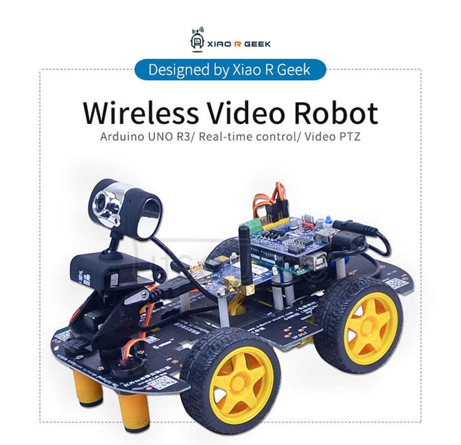 Arduino Uno R3 Wireless Video Robot (Italy origin main board)