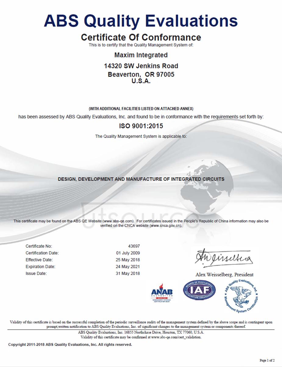 MAX31855KASA+T IC CONV THERMOCOUPLE-DGTL SOIC8 MAXIM  2.5K/roll