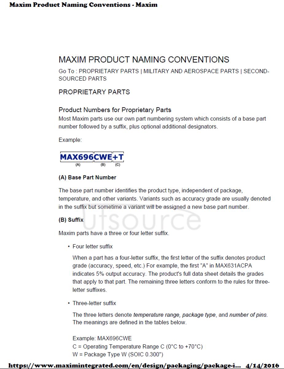 MAX3232EUE+T IC TXRX RS-232 LP 16-TSSOP MAXIM 2.5K/roll