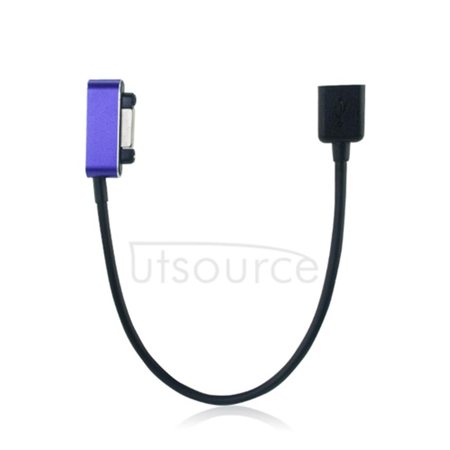 Magnetic Charging Cable to Micro USB Adapter Purple