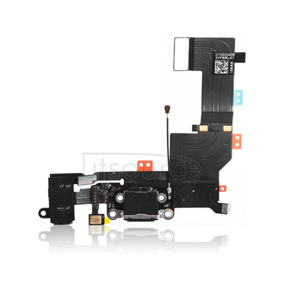 OEM Dock Connector Assembly for iPhone 5S Black