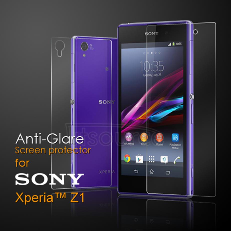 Front and Back Anti-Glare Screen Protector for Sony Xperia Z1