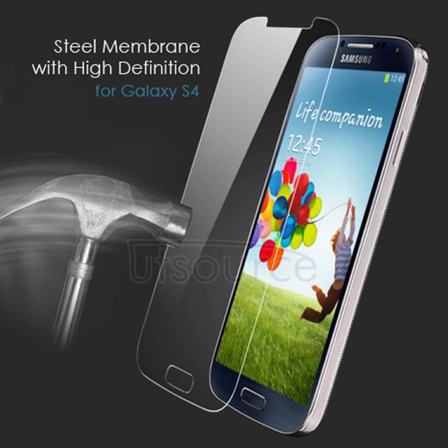 Clear Premium Tempered Glass Screen Protector Film for Samsung Galaxy S4