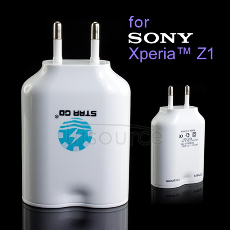 4 USB Ports Travel Charger for Sony Xperia Z1 Europe