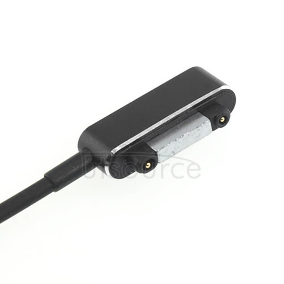 Custom Magnetic Charging Cable for Sony Smartphone Black