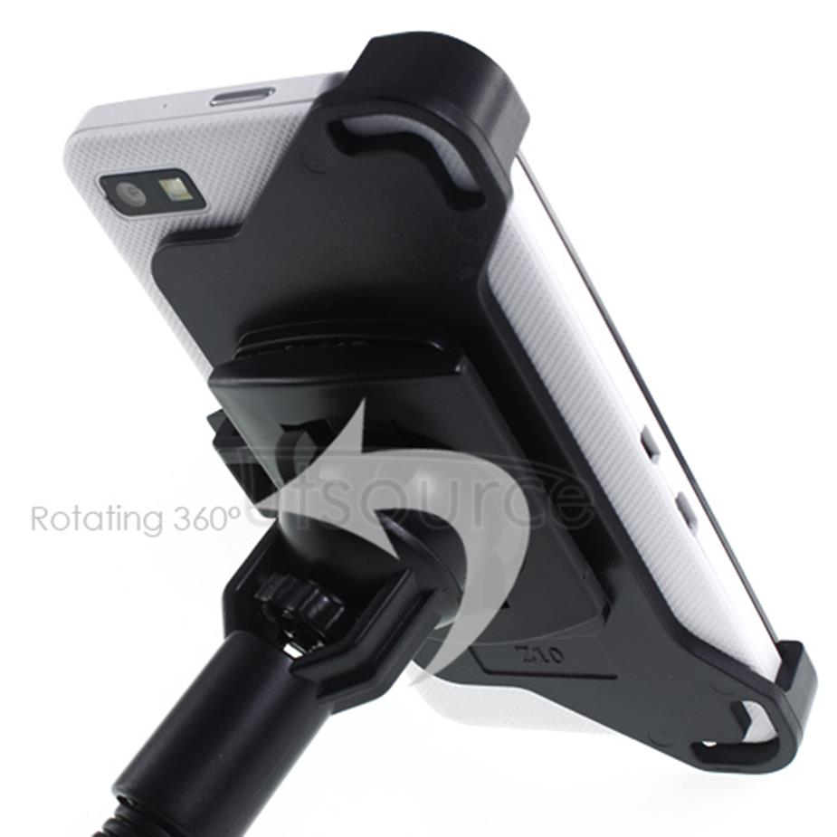 360° Rotating Windshield Car Holder for BlackBerry Z10 Flexible Gooseneck Black