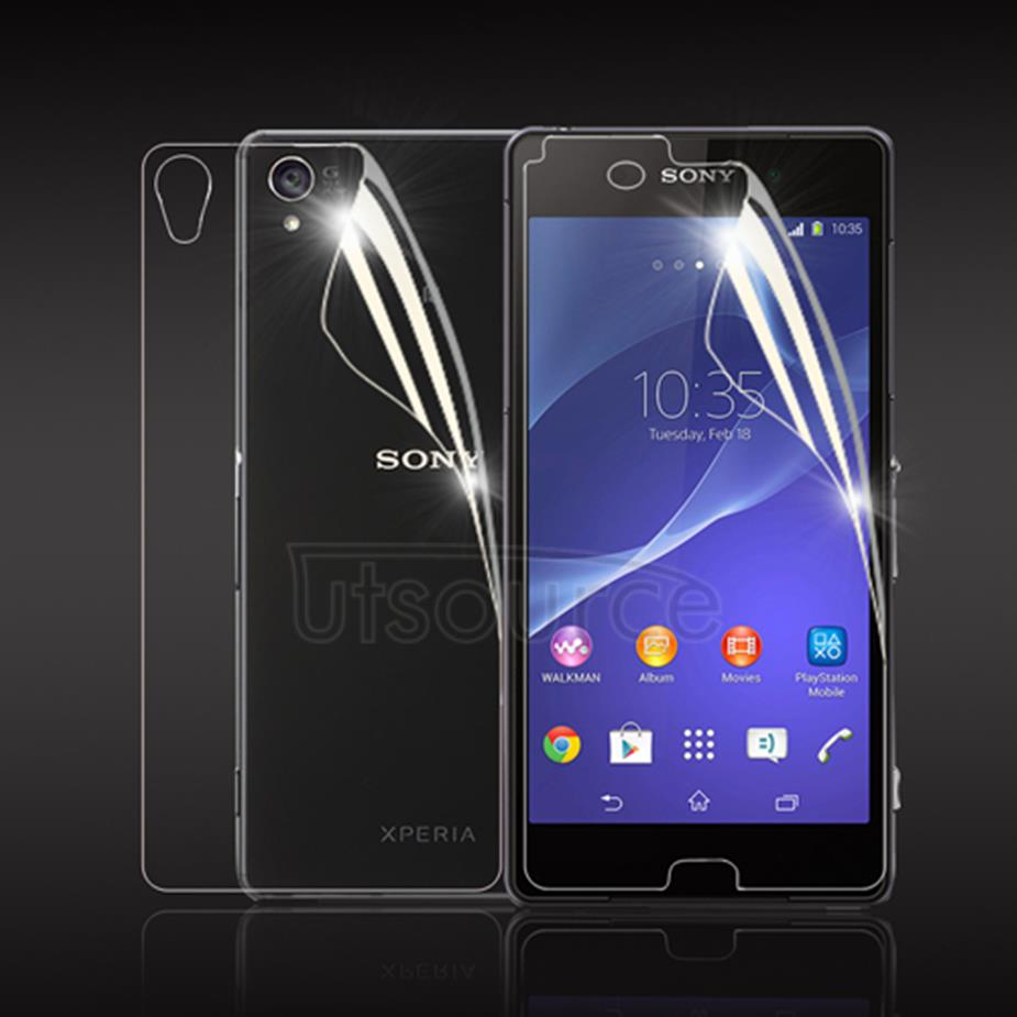 Front and Back Clear Screen Protector for Sony Xperia Z3