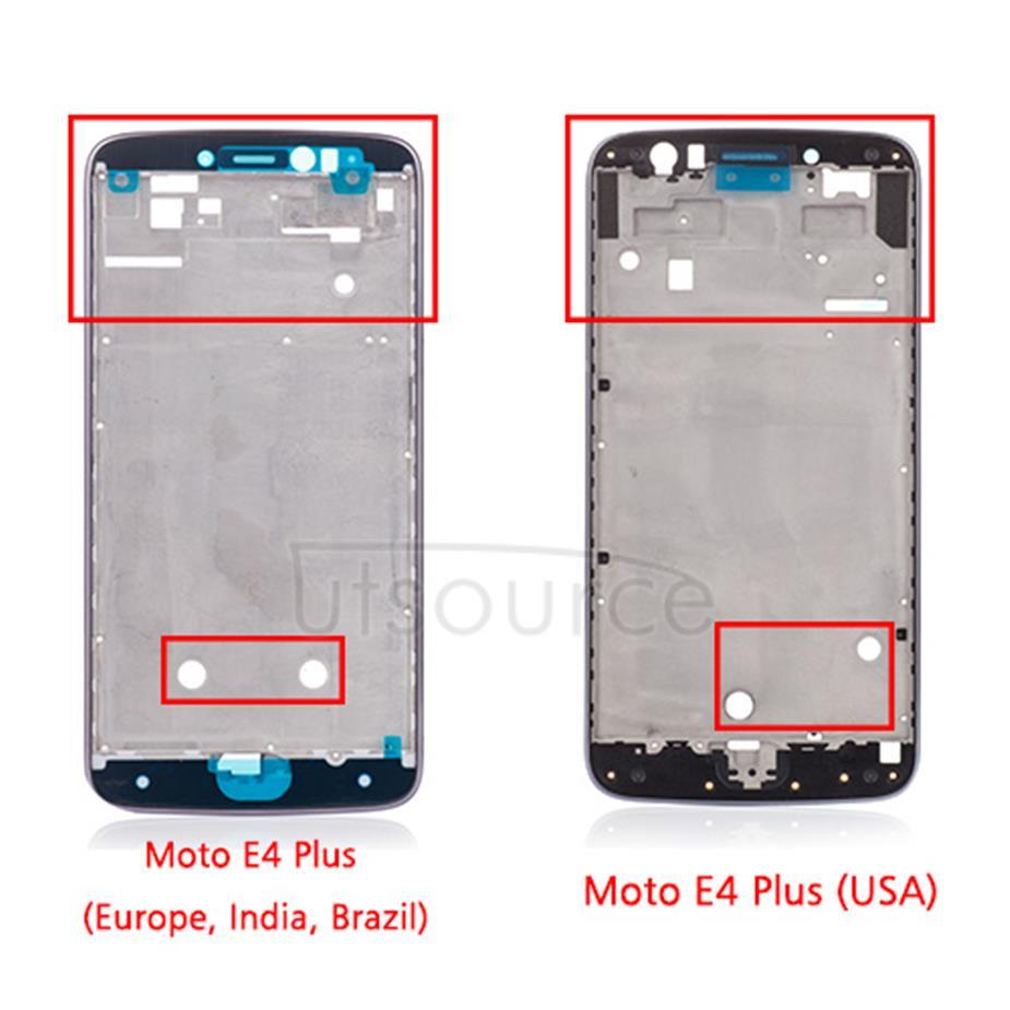 OEM LCD Supporting Frame for Motorola Moto E4 Plus (USA) Iron Gray