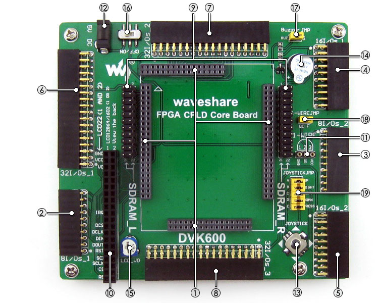 FPGA CPLD development board on board resource