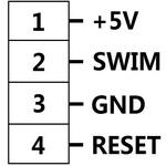 SWIM interface header pinouts