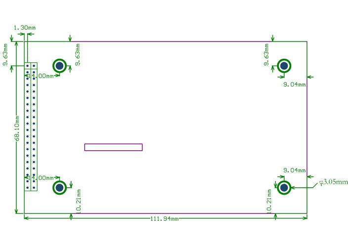 4.3inch-480x272-Touch-LCD-B external dimension