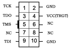 10-pin JTAG header pinout