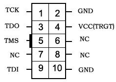 10-pin JTAG header pinout
